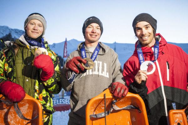 Kévin Rolland et les médaillés du Shred It