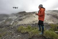 Arthus K et son drone sur le Vars Mountain Trail