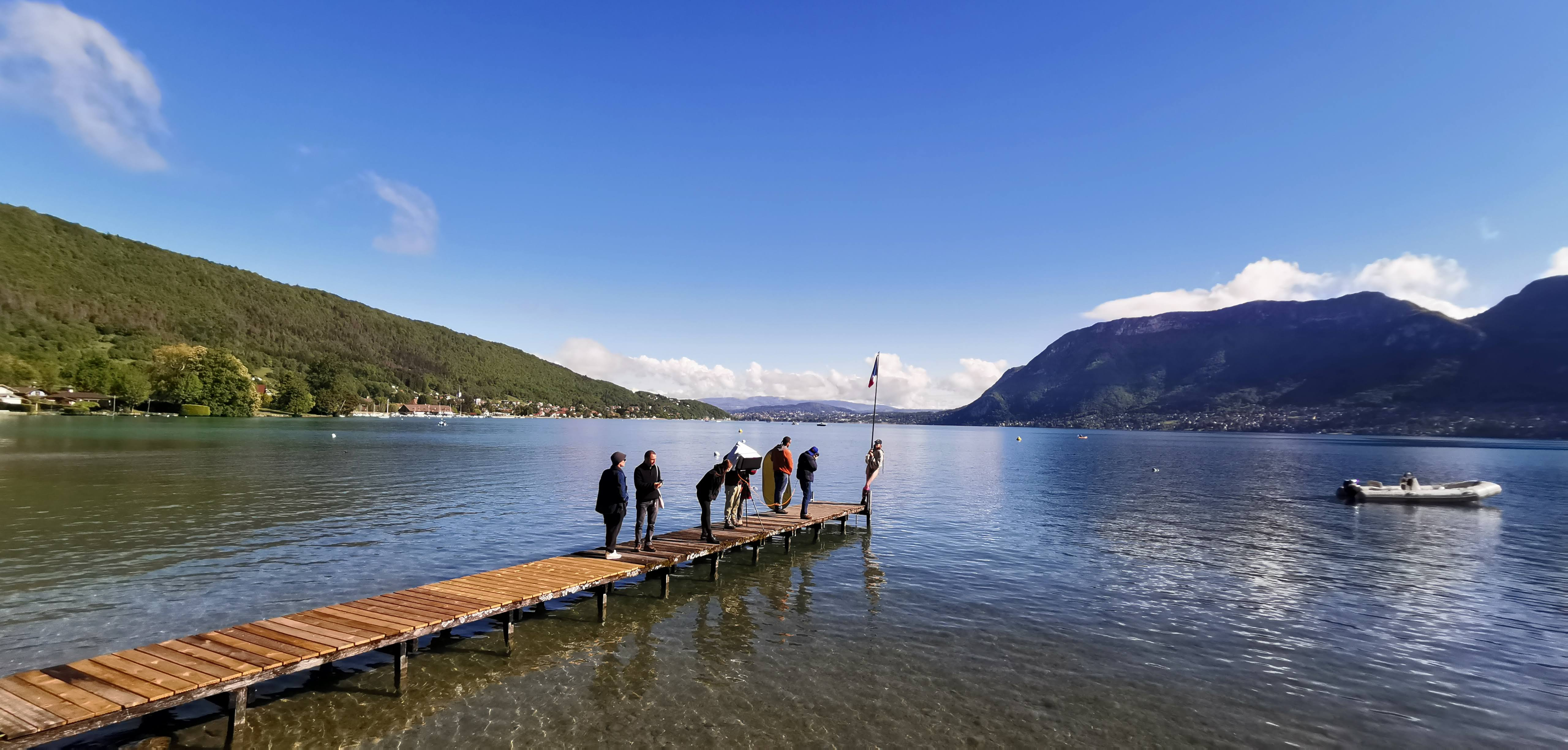 projet photoshoot elle magazine sur le lac